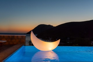 Premium Pool Villa patmos night