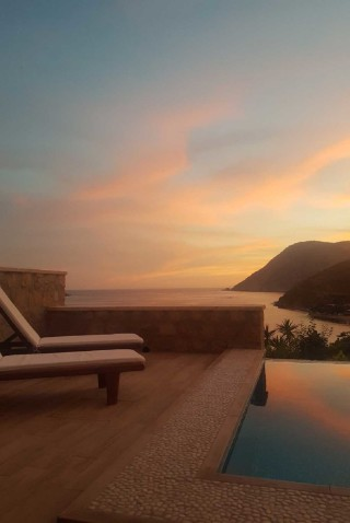 Premium Pool Villa patmos sunset