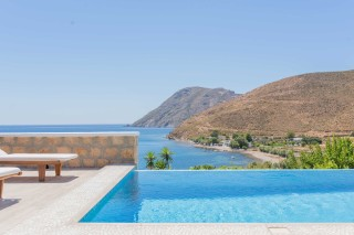 Premium Pool Villa patmos view of the sea